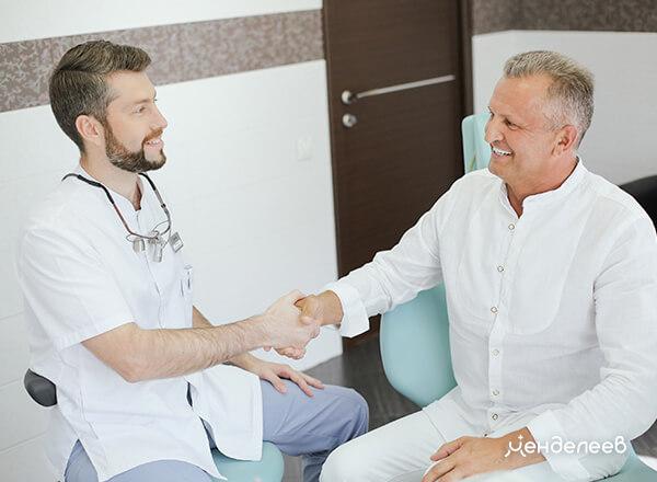 Пациент остался доволен работой стоматолога-ортопеда